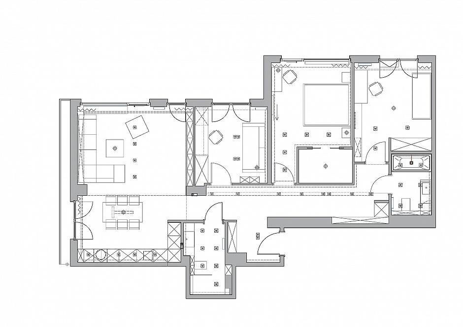 стилен апартамент със светъл интериор в полша_детска стая_разпределение