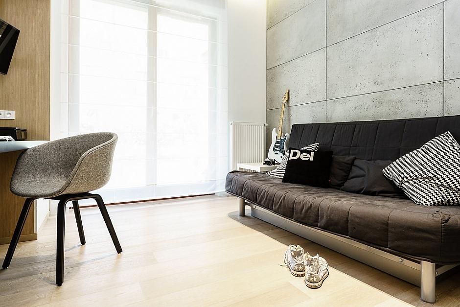 стилен апартамент със светъл интериор в полша