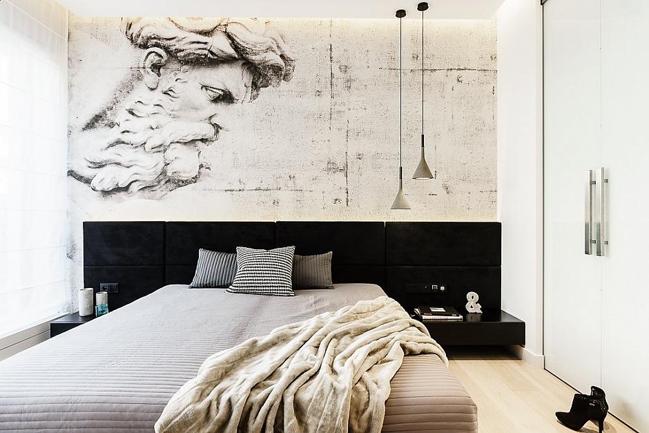 стилен апартамент със светъл интериор в полша_спалня_1