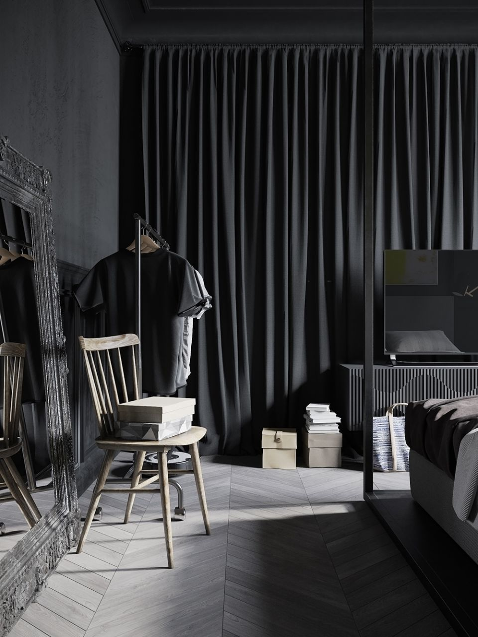 индустриален стил и черно 18