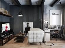 индустриален стил и черно