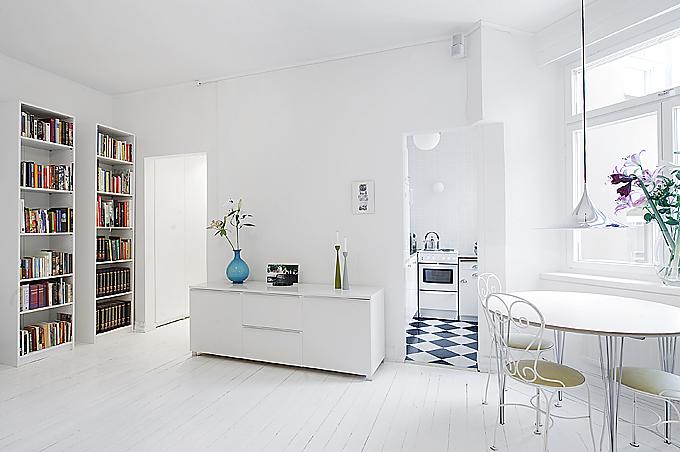 изчистен малък апартамент