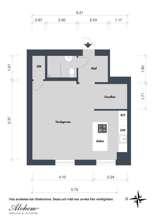 апартамент 42 кв. м схема