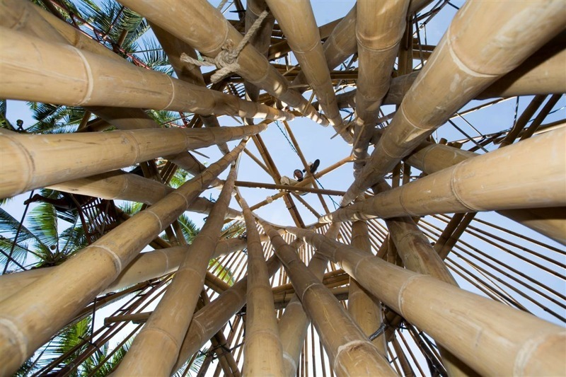 бамбукови къщи