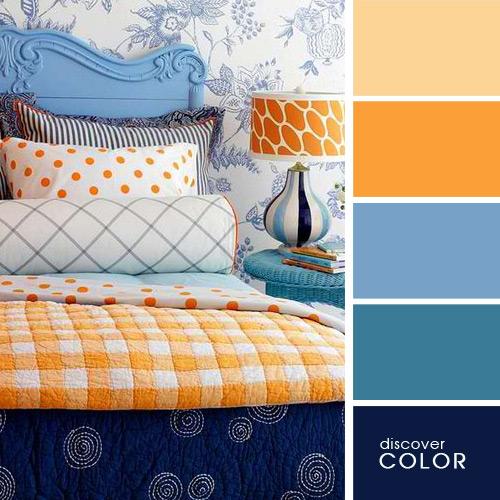 спалня в оранжево