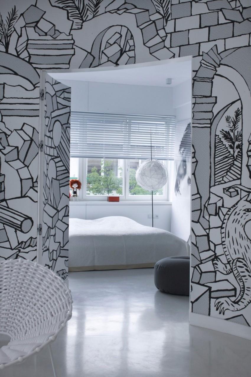 апартамент в бяло с артистична стена - 12