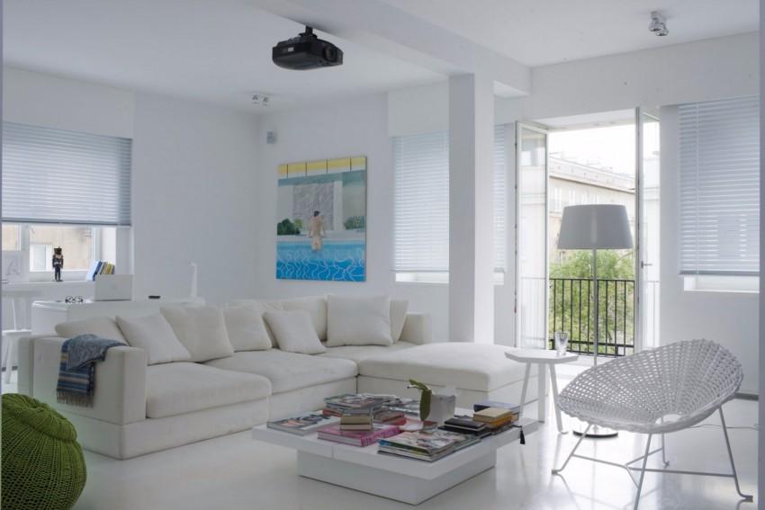 апартамент в бяло с артистична стена - 2