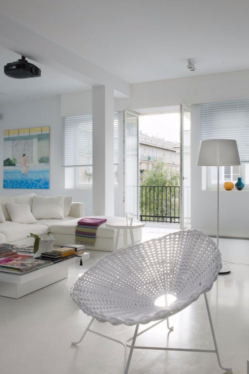 апартамент в бяло с артистична стена - 3