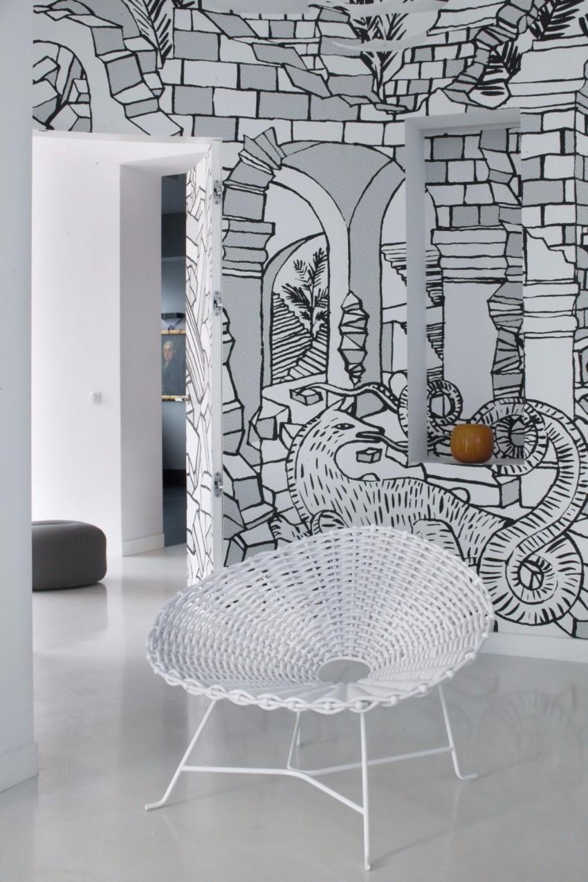 апартамент в бяло с артистична стена - 4