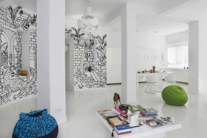 апартамент в бяло с артистична стена - 5