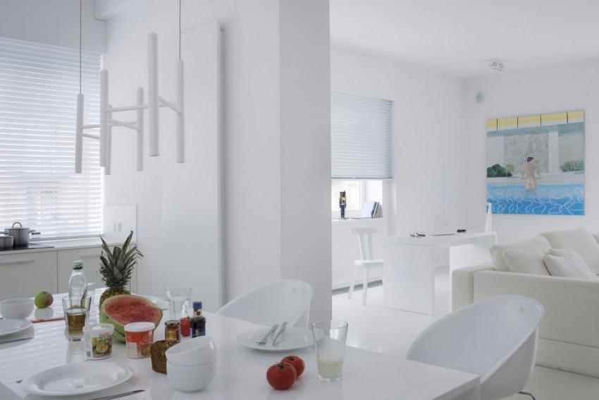 апартамент в бяло с артистична стена - 9