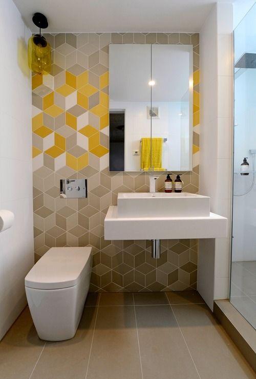 геометрични шарки в банята