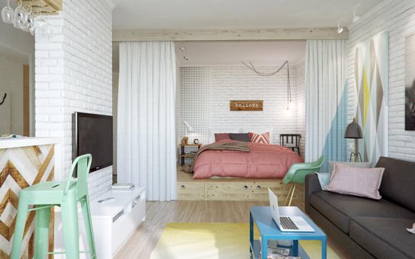 малък апартамент на 4 зони - 3