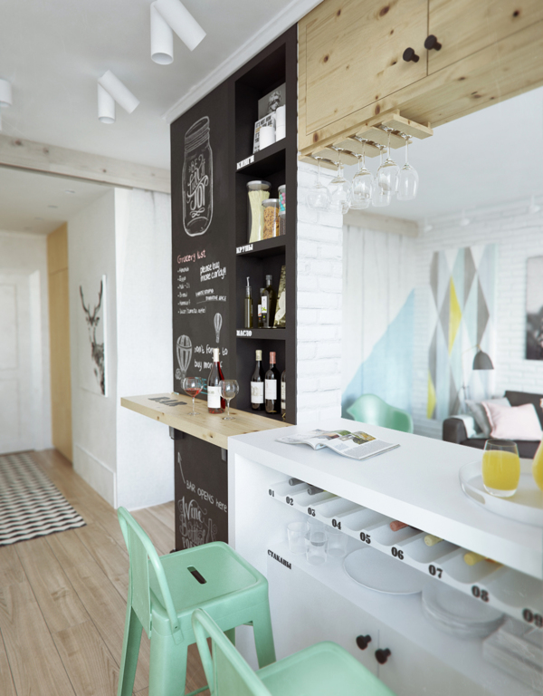 малък апартамент на 4 зони - 9