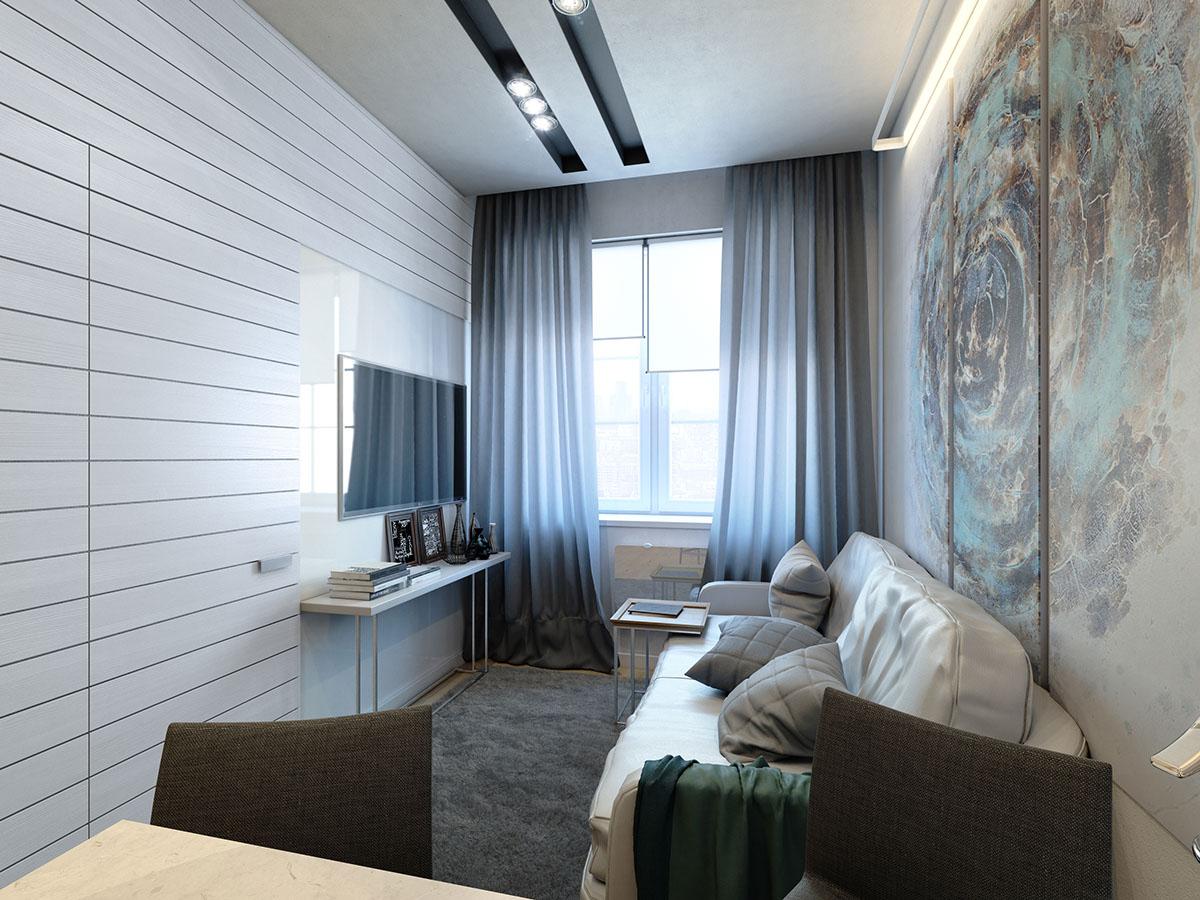 много малък апартамент 35 кв. м - 1