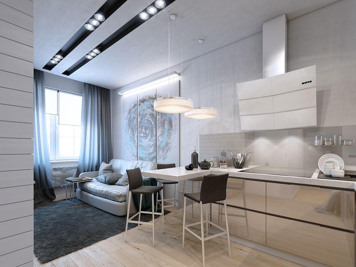 много малък апартамент 35 кв. м - 3