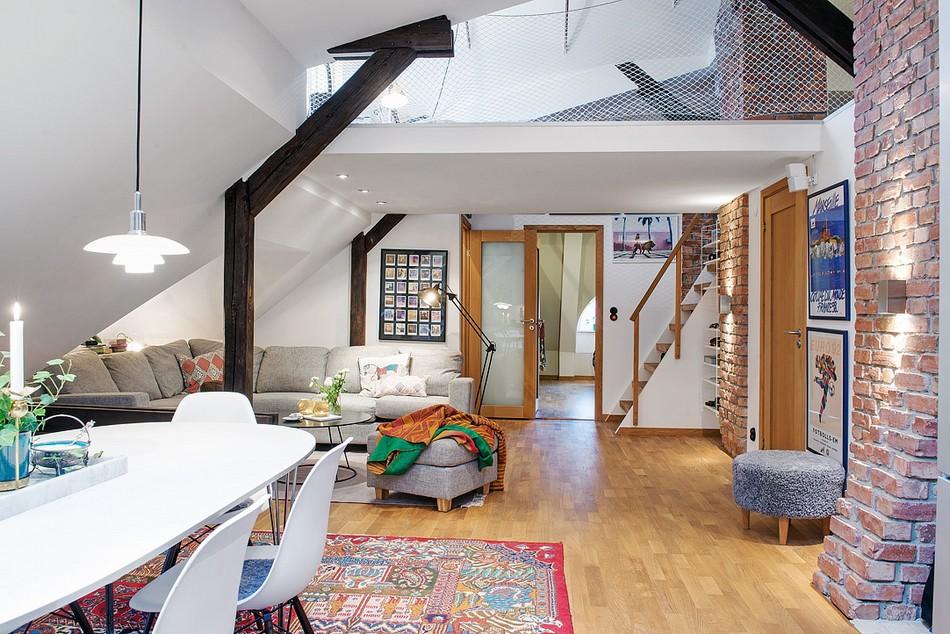 таванско жилище в Швеция - 1