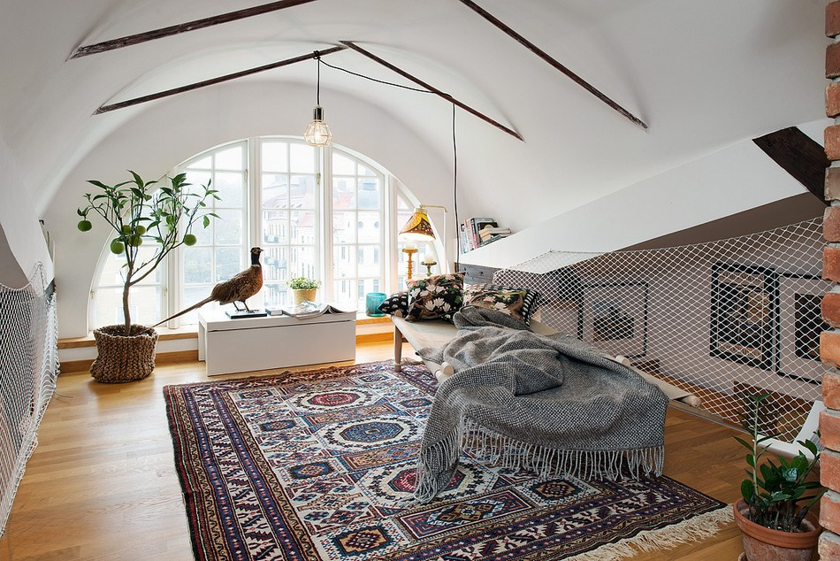 таванско жилище в Швеция - 14