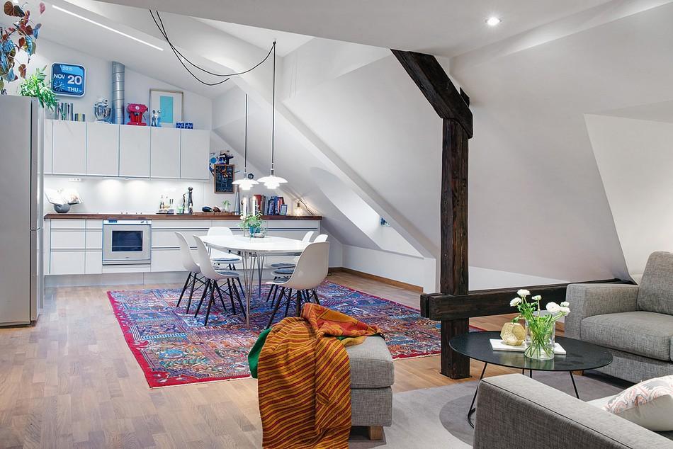 таванско жилище в Швеция - 16