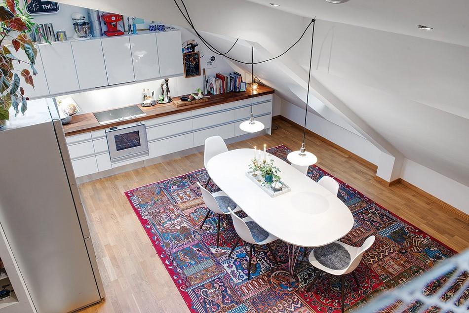 таванско жилище в Швеция - 2