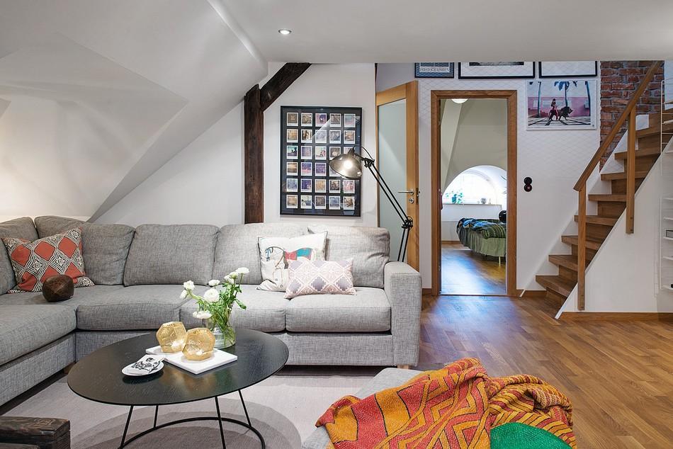 таванско жилище в Швеция - 4