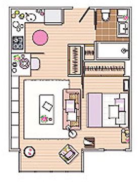 40 квадратни метра апартамент - 11