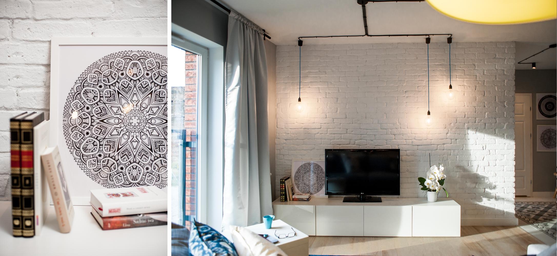 апартамент в сиво, черно, бяло и дърво - 21