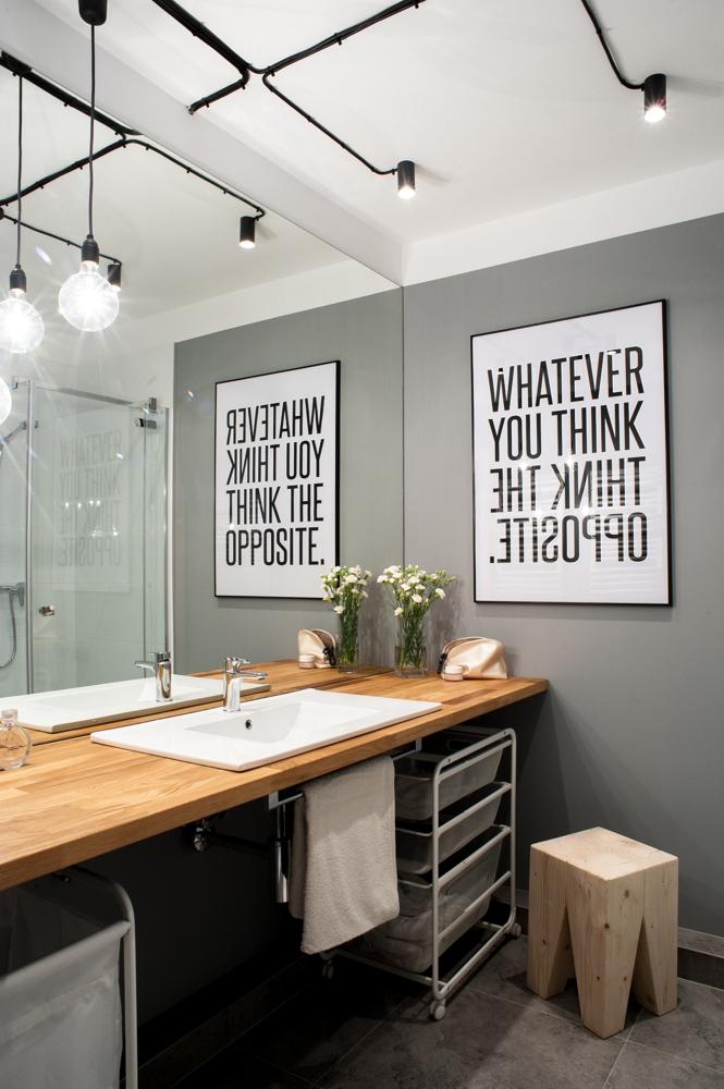 апартамент в сиво, черно, бяло и дърво - 4