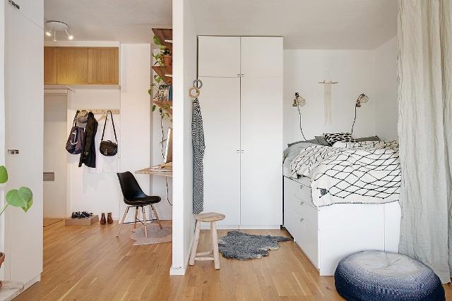 едностаен скандинавски апартамент - 10