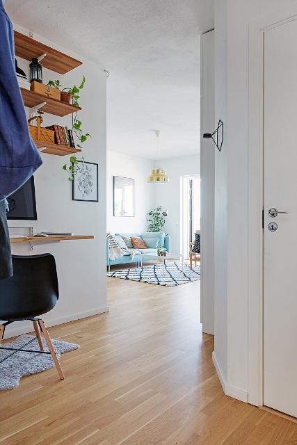 едностаен скандинавски апартамент -  14