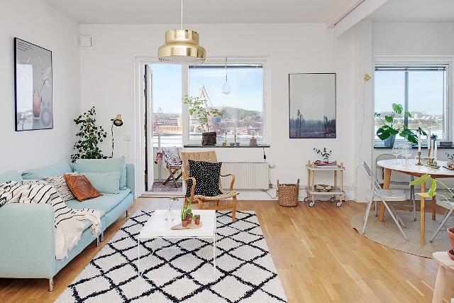 едностаен скандинавски апартамент - 5