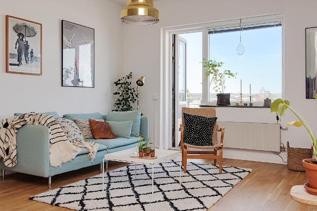 едностаен скандинавски апартамент - 6