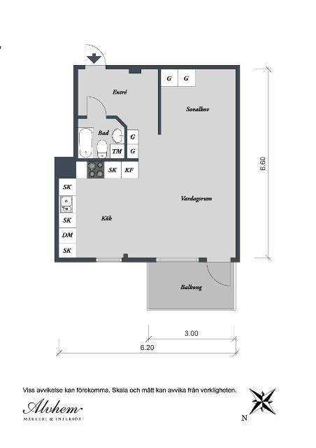 едностаен скандинавски апартамент - 8