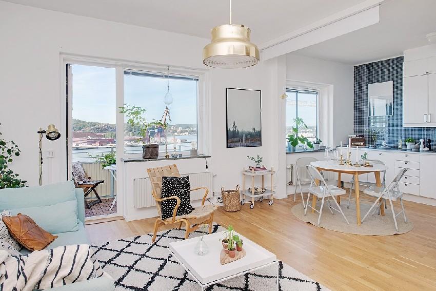 едностаен скандинавски апартамент