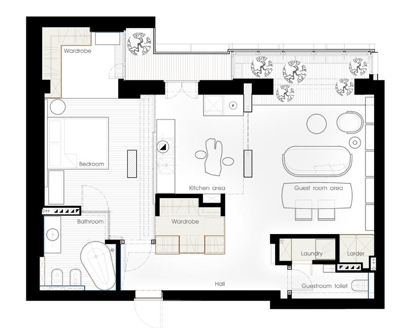 елегантен апартамент в стила на kenzo - 17