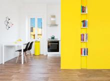 малък апартамент с жълти акценти - 4