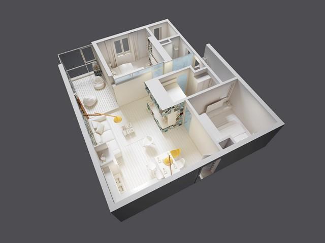 семейно жилище с геомтрични фигури - 21