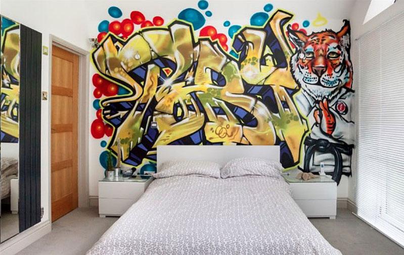 стена с графити