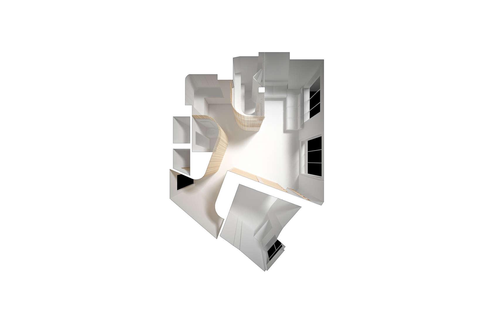 Апартамент със заоблени стени и интересно разположение - план