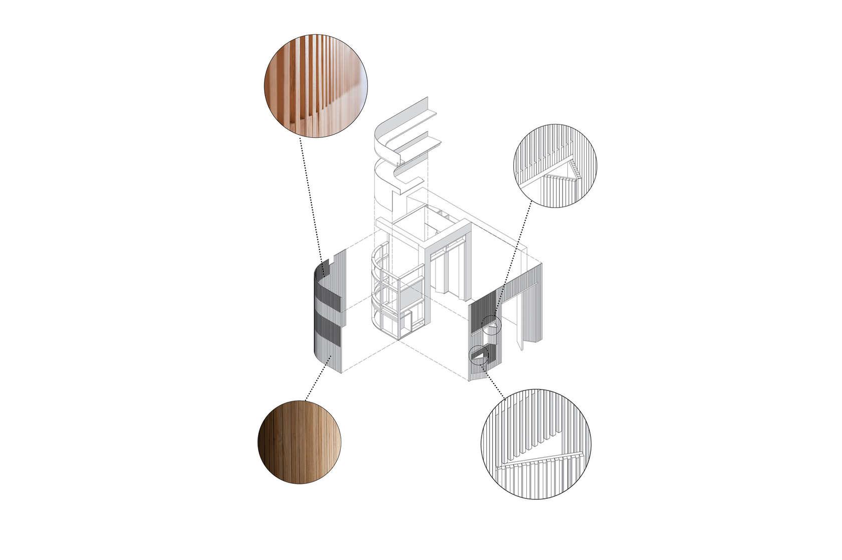 Апартамент със заоблени стени и интересно разположение - стени