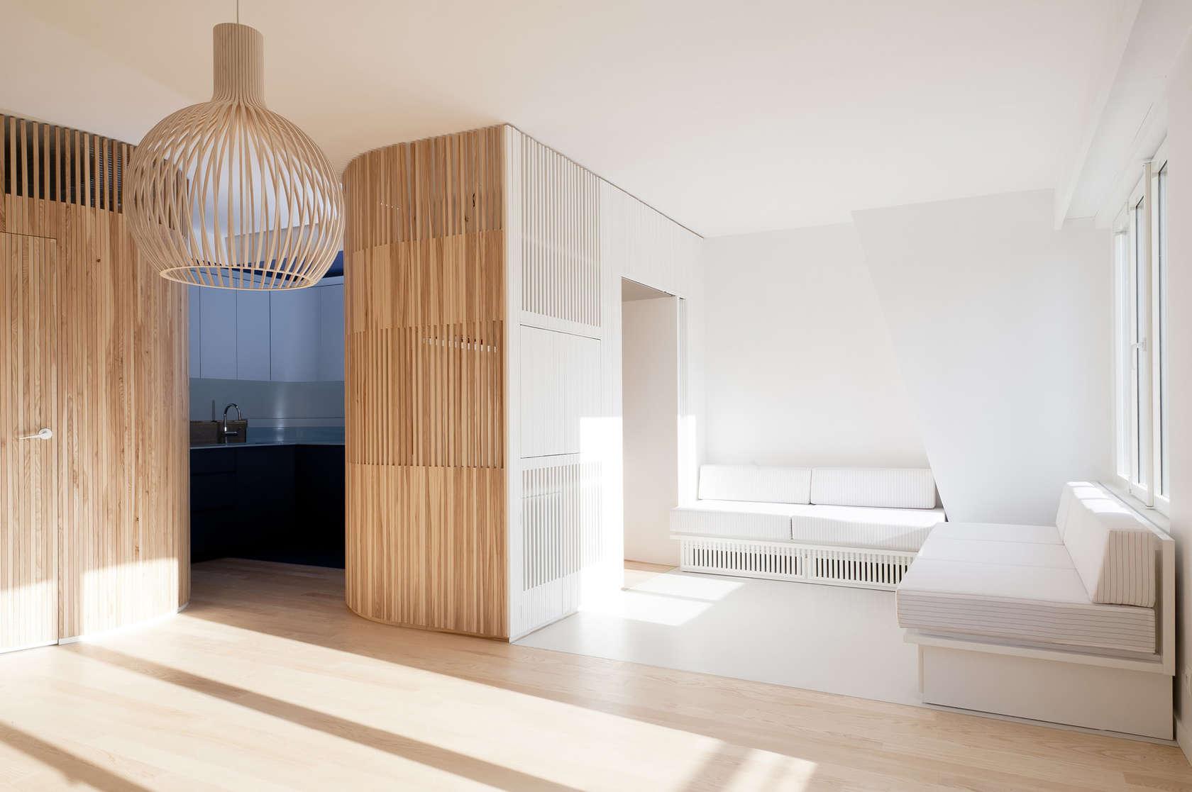 Апартамент със заоблени стени и интересно разположение - 9