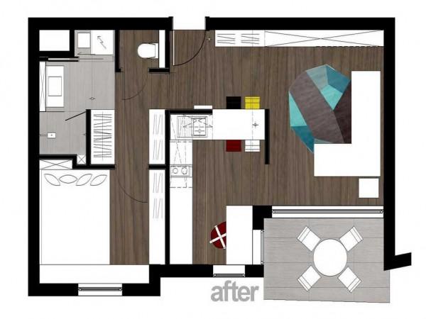 апартамент 40 кв. м - план