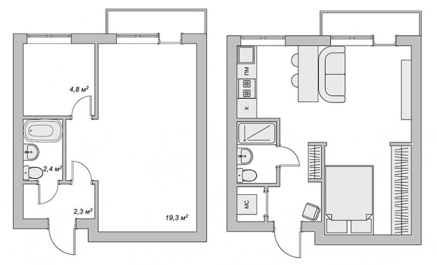 да живееш царски в 29 кв. м - план