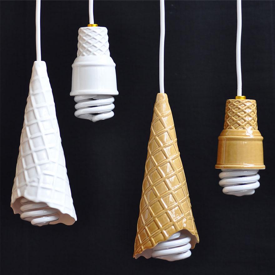 крушки в сладоледени фунийки - 1