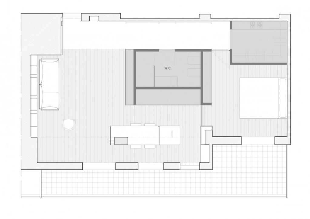 куб в центъра на апартамент - 14