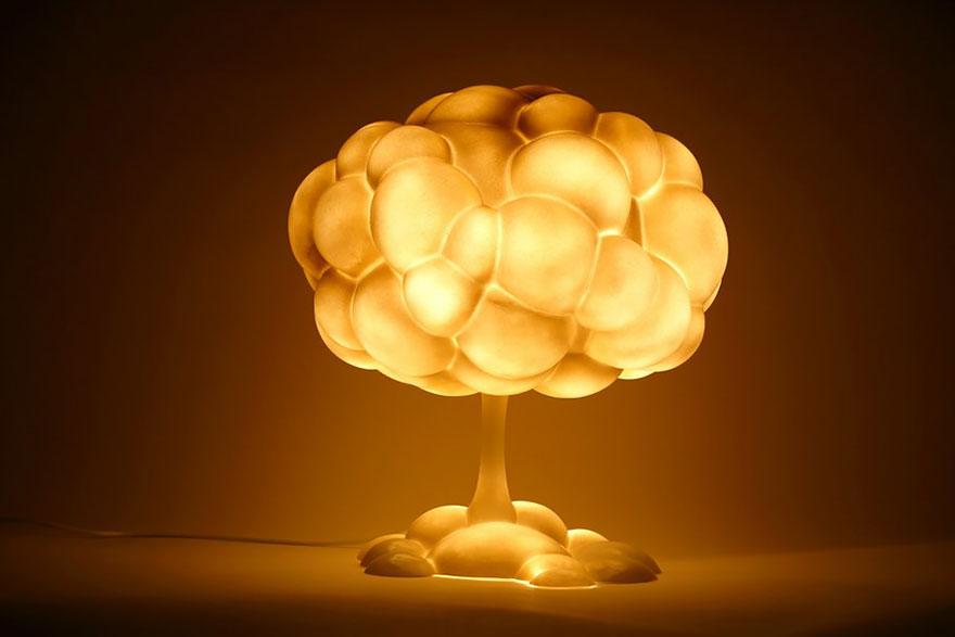 лампа като облак-гъба