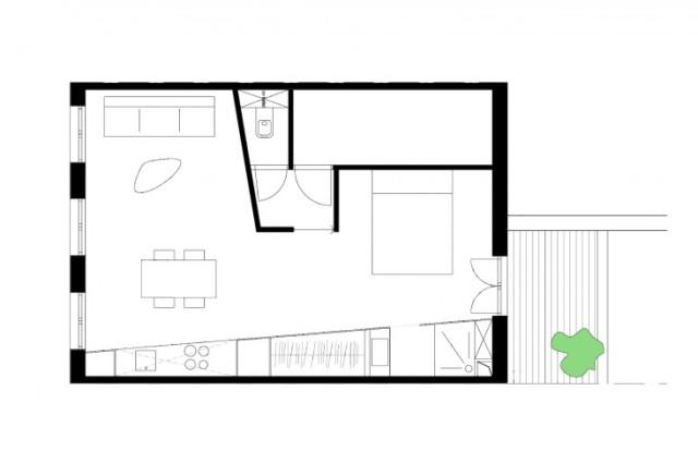 малко студио в бяло - 9