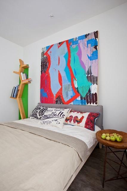 малък апартамент с бетонни стени - 12