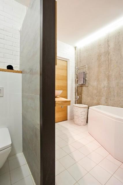 малък апартамент с бетонни стени - 20