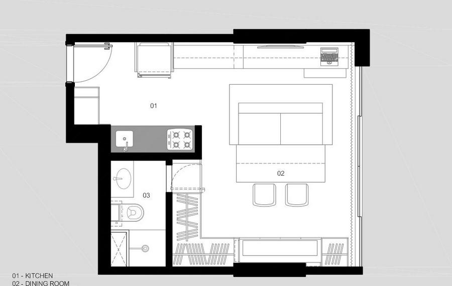 мултифункционален апартамент в Бразилия - 7